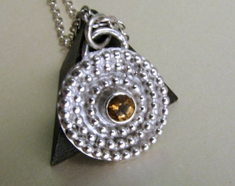 Citrine Necklace in Sterling Silver - November Birthstone - AAA Golden Citrine - Yellow Stone Necklace