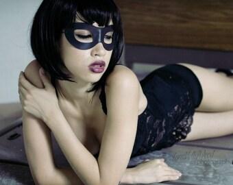 Incognito Masquerade Leather mask in black size S/M