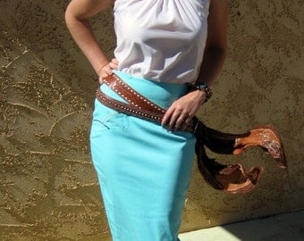 Bandida Pencil Skirt - Western Rodeo Cowgirl Pinup