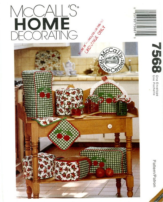 Mccalls 7568 Kitchen Appliance Covers Toaster By Lindakaydesigns