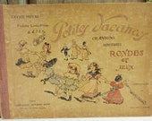 Hardcover Vintage Childrens Book, Front Cover to Frame -- Petites Vacances