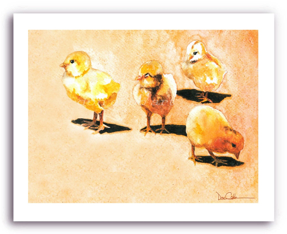Baby Chicken Art Chick Babies Prints Signed And