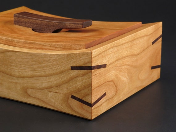 Unique Wooden Box with Miter Splines