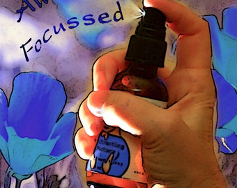 Focussed Attention, Creativity, Mental Alertness and Clarity, Flower Essence Aromatherapy Spray, Organic Reiki-Infused