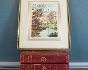 The Pond Etching | Signed Paris Etching Society | Framed Circa 1920s