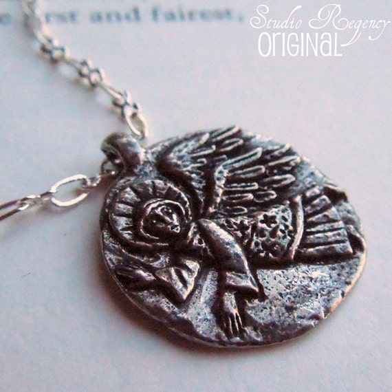 Necklace - Guardian Angel Necklace -  Reversible Angel Pendant - Angel Jewelry - Angel Necklace - Silver Angel - Silver Jewelry