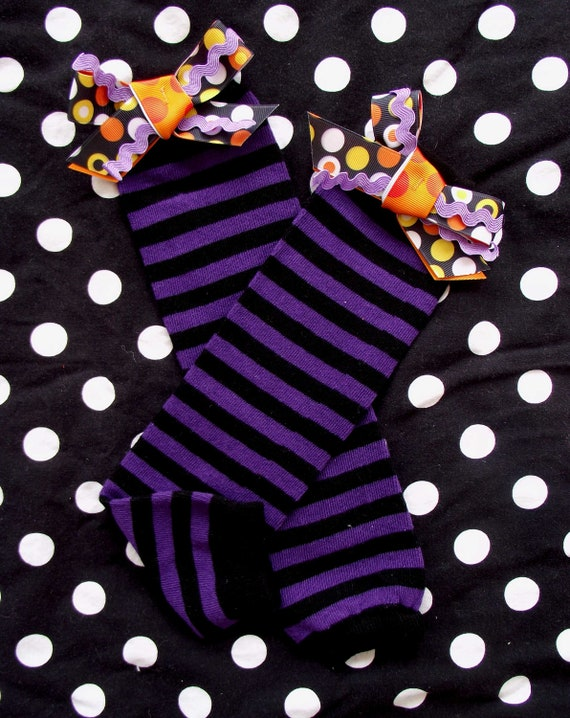 Halloween Leg Warmers with Bows