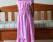 Peasant dress, Floor length dress, Maxi dress, sizes 2T thru 10