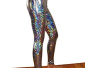 Holographic Leggings - Silver, Gold, Black - Shiny Sparkle New Year's Best Selling Hologram