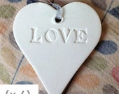 Decorative Clay Heart Gift Tag Decoration (x6)