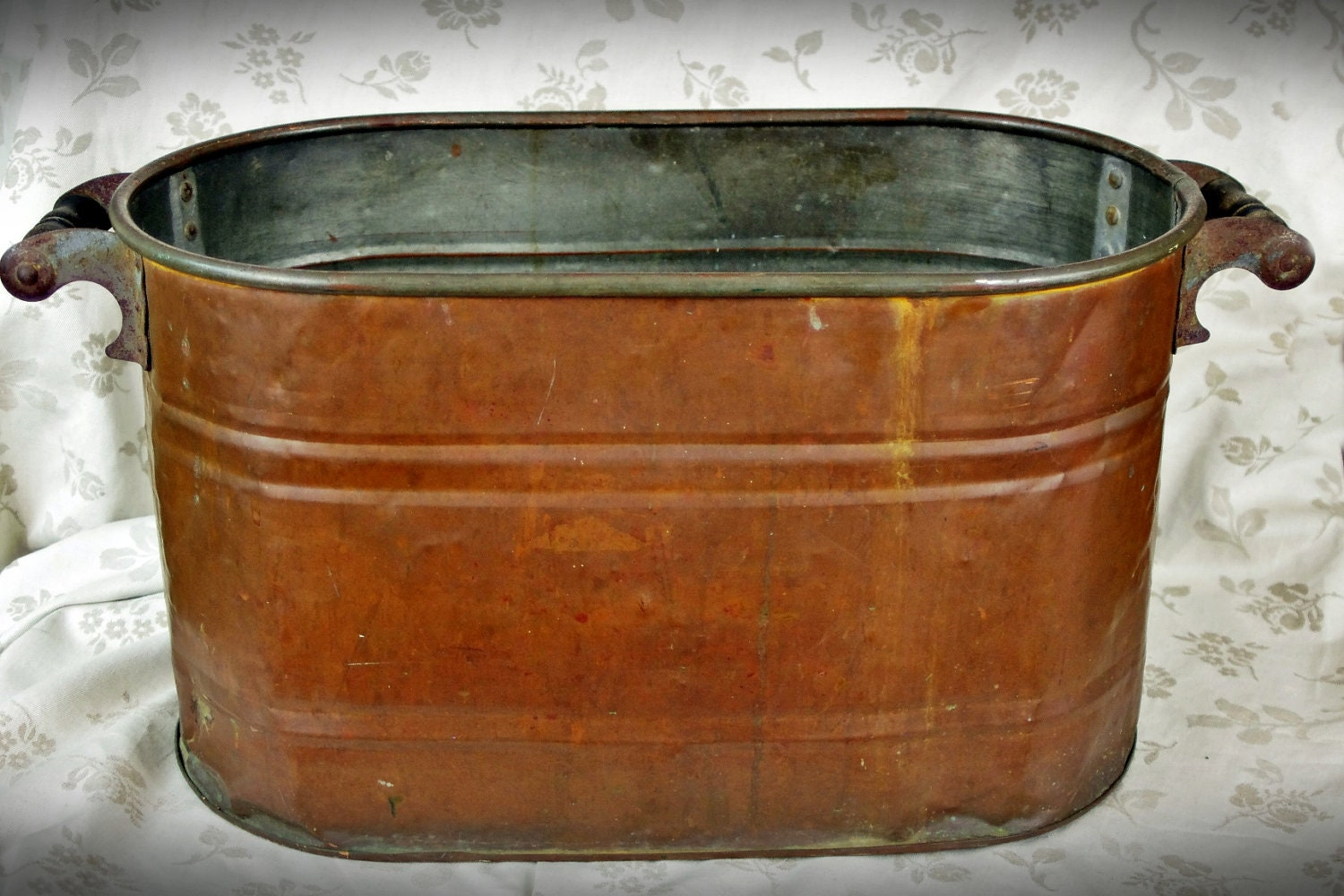 Vintage Copper Wash Tub by BsAttic on Etsy