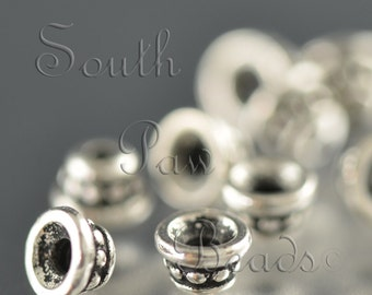 TierraCast, Antique Silver 4mm Beaded Bead Cap (12)