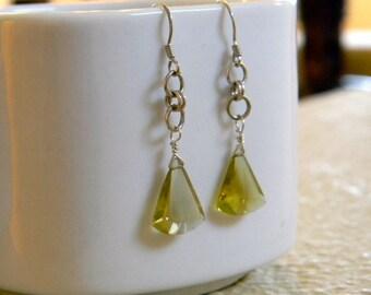 Luscious Lemon Drops - Sunny Yellow Quartz Earrings