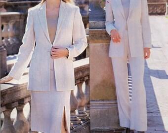 Vogue 2681 Misses Jacket Skirt and Boot Cut Pants Pattern Designer SUIT Anne Klein Womens Sewing Pattern Size 8 10 12  Bust 31 32 34  UNCUT