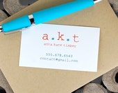 Calling Cards . Custom Calling Cards . Family Calling Cards . Contact Cards . Personalized Calling Cards - Typewriter Initials