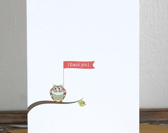 Baby Shower Thank You Cards . Baby Thank You Cards . Thank You Notes Baby - Thank You Notes - Little Owl