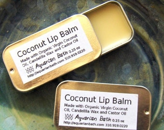 Coconut Lip Balm - Lip Balm Tin - Vegan Lip Balm