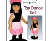 Doll clothes Pattern for American Girl, 18 inch doll. Tap Dance Dress PDF 022