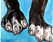 Dogs Make Life Pawesome - Original Dog Paws PRINT 5x7
