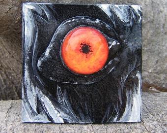 Dimensional Painting - The Opulent Eye - Ring-Tailed Lemur - Original Art