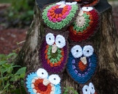 Child's Colorful Owl Scarf