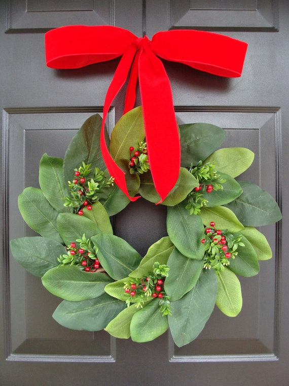 Add a Bow, Wreath Decoration, Bow Added to Wreath, Christmas Ribbon, Many Colors Available