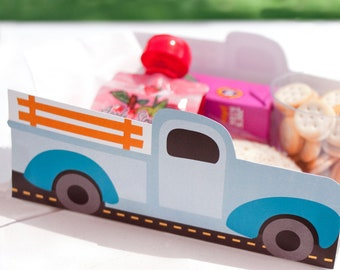 Vintage Pickup Truck Printable LUNCH / SNACK TRAY >> Instant Download | Paper and Cake