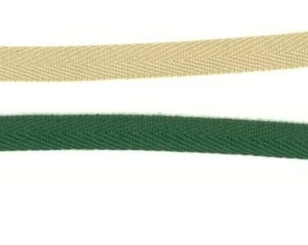 1/2In Blank Twill Ribbon - 2 Yards - CHOOSE COLOR