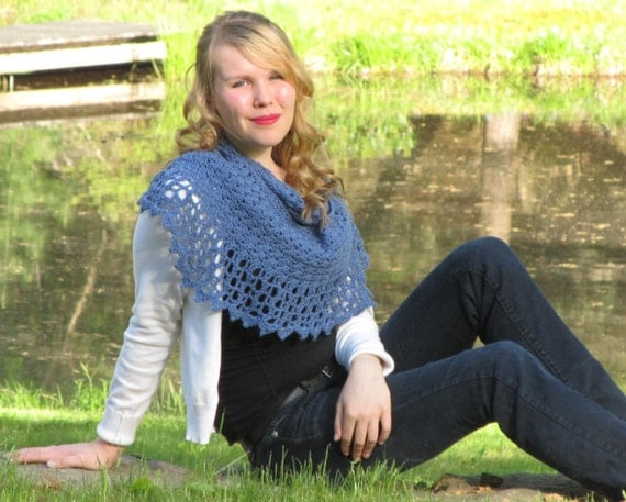 Peacock's Plume crochet wrap / scarf pattern only