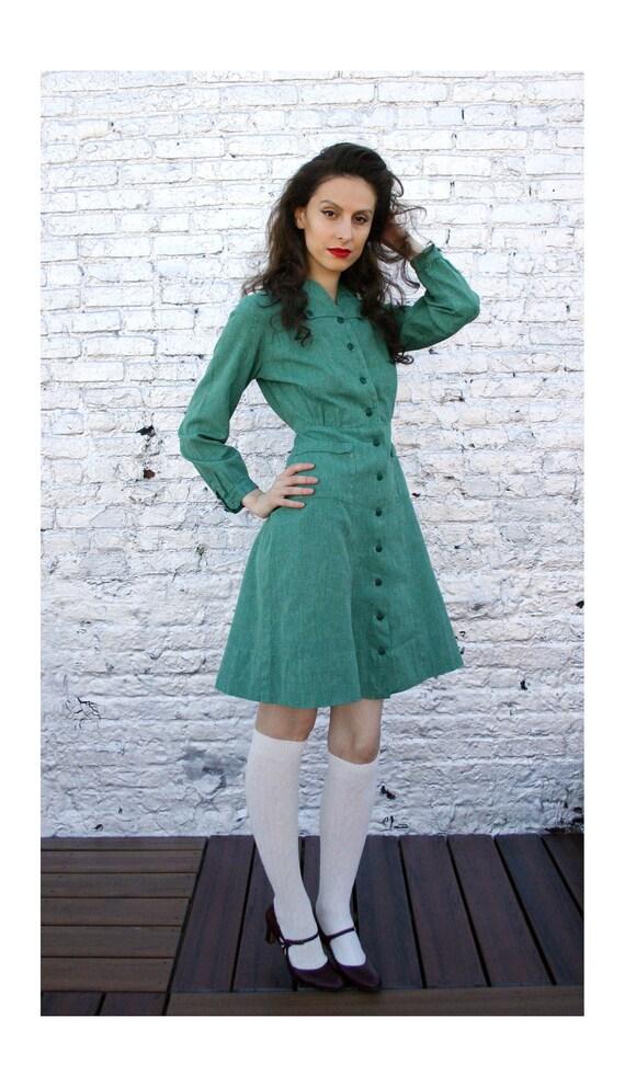 40 S 50 S Girl Scout Uniform Dress Troop Leader Size