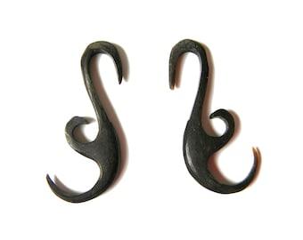 filagree TRIBAL HORN plugs/ EARRINGS - 6 gauge 6g