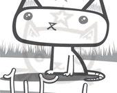 Printed Coloring Book - What Kitties Feel