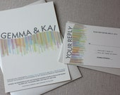 Paper Kaleidoscope Eco-FriendlyModern Abstract Wedding Invitation Suite Sample