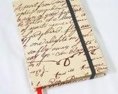 Travel Journal Notebook Da Vinci Code Fabric Handstitch Coptic Stitch (Size A6)