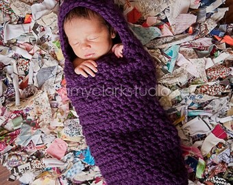 Newborn Wrap Blanket Hooded Cocoon Bunting Baby Photo Prop MADE TO ORDER Baby Shower Gift