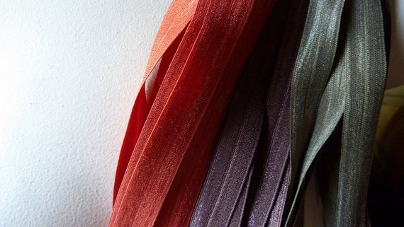 SALE Foldover Elastic in Fall Color - 2 yards each of 3 colors