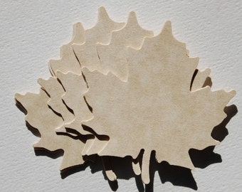 Large Paper Leaves in Brown Parchment-Set of 15 Leaves-Leaf Punch-Escort Card-Place Card-Wedding Wish Tree-Nature-Rustic-Barn-Ready to Ship