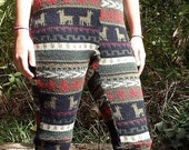 Custom made Upcycled Sweater Leggings