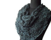 Crochet Pattern for A Bit of Lace Hemp Triangle Scarf