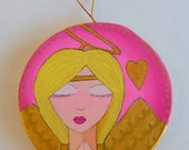 Angel Prayers - ONE Original Painted Christmas Ornament
