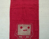 Meat Boy Towel - red (white outline)