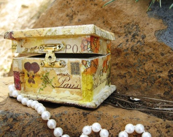 "Treasure Box ""Garden of Pansies"""