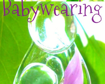 Babywearing Mother & Child custom glass ornament