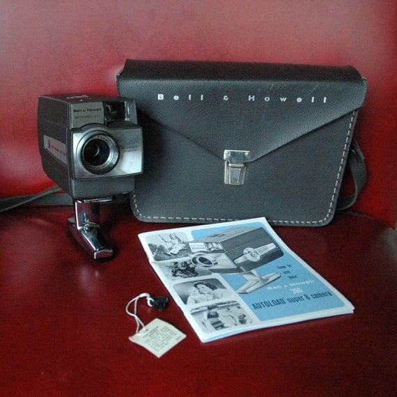 Vintage Bell & Howell 306 Autoload Super 8 Movie Camera with Accessories