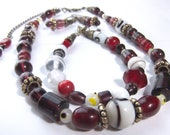 Viking Inspired Lampwork Glass Bead Earring Bracelet and Necklace Free Shipping