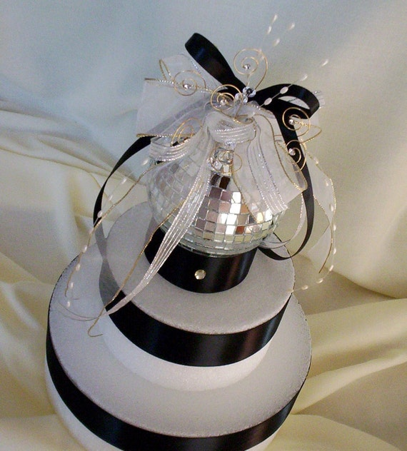 Disco Balls Decorations: Elegant Wedding Cake Topper Mirror Ball Decoration By