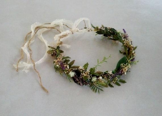 Greenery Headdress Greek Goddess Flower Crown Barn Wedding