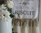 """Flour Sack Kitchen Towel .""""Well Butter my Buns N Call me a Biscuit"""" Southern Saying for Home Farmhouse or Cottage By: Sweet Magnolias Farm"""