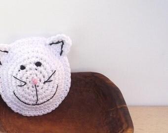 Crochet Cat Brooch