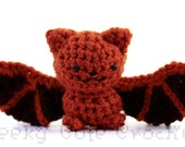 Eastern Red Bat Amigurumi Crocheted Plush Toy